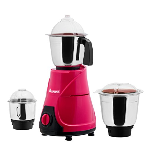 ANJALIMIX Mixer Grinder MOJO 600 WATTS With 3 Jars (Magenta & Black), DRY, WET, CHUTNEY  available at amazon for Rs.1999