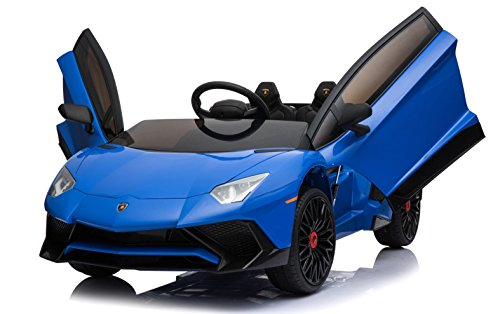 Lamborghini Lizenzierte Aventador SV 12V 7A elektrische Fahrt auf Auto Blau