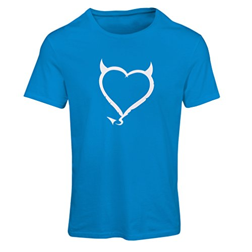 Maglietta Donna Devil heart Funny Gift Colors/Sizes Azzulo Bianco