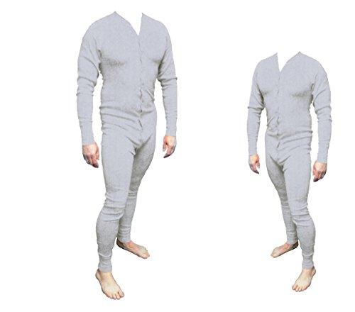 Long John Western Unterwäsche grau Einteiler Baumwolle Gr. 3XL Cowboy Unterhose Wild West Line Dance Kleidung
