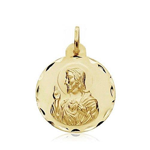 Medalla Oro 18K Escapulario Virgen Angustias 20mm. [Ab3345]