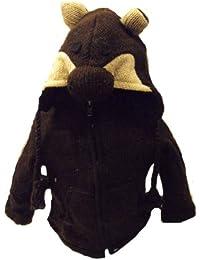Kids Bear Jacket - Handknitted Fair Trade Woollen Childs Animal Jacket - Bear
