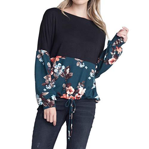 (Damen Bluse Xiantime Damen Mode Sommer Herbst Elegant Knopfdruck T-Shirt Ärmel Beiläufige T-Shirt Langarm Tops Bluse S-XXL)