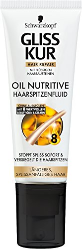 Schwarzkopf Gliss Kur, Haarspitzenfluid Oil Nutritive, 5er Pack (5 x 50 ml)