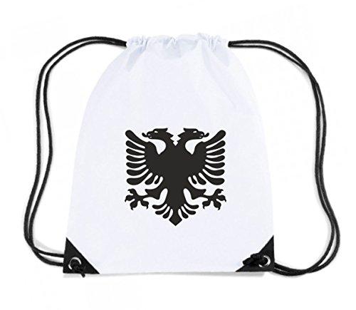 T-Shirtshock - Rucksack Budget Gymsac TM0150 albanian eagle flag of albania flag, Größe Kapazität 11 Liter