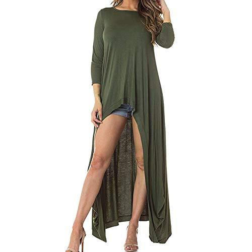 Geili Damen Mode Cool Lange Bluse Frauen Unregelmäßige Rüschen Hem Shirt Langarm Einfarbig Pullover Tops Party Blusen