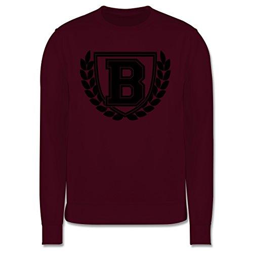 Anfangsbuchstaben - B Collegestyle - Herren Premium Pullover Burgundrot