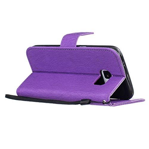 Custodia iPhone 5/5s/SE, JGNTJLS [2016 nuovo stile per lautunno] [con protezione per schermo in vetro temperato e panno di pulizia gratis] semplice, elegante, modello groffato (Pure Candy-colorato, d Vine,Butterfly,Purple