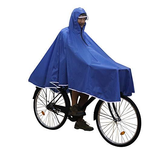 Anyoo Wasserdicht Radfahren Regen Poncho Portable Leichte Regenjacke Mit Kapuze Fahrrad Fahrrad Compact Regen Cape Wiederverwendbare Unisex für Backpacking Camping Outdoors
