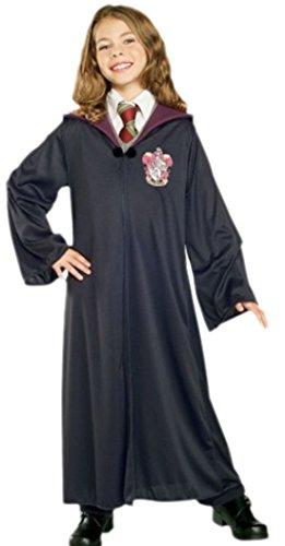 erdbeerloft - Kinder Harry Potter Robe Hermine Gryffindor 5-7 Jahre, M, Schwarz