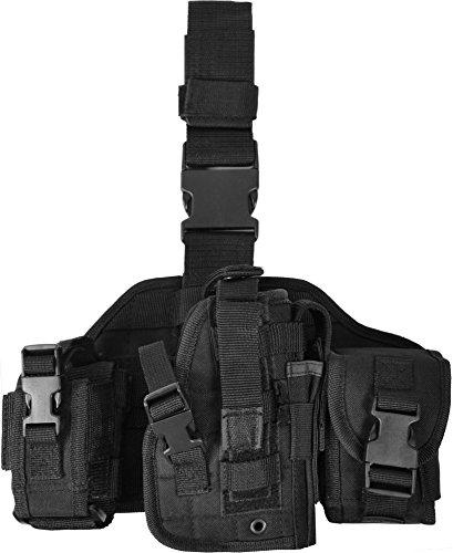 normani Pistolen-Beinholster mit extra großen Zubehör-Taschen