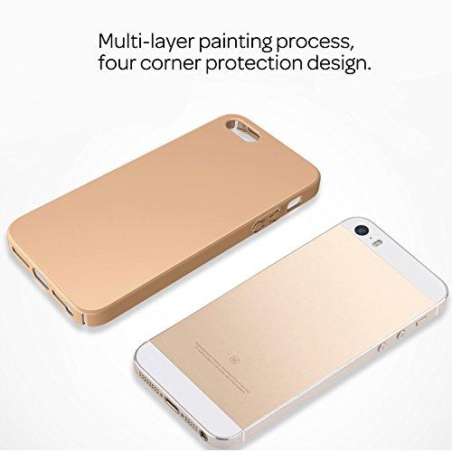 HX-412XFAY Schlanke Glatt und geschmeidig, iPhone 5/5sHülle, iPhone 5S/5/SE Hülle Passgenaues Premium Hart-PC Schale /Handyhülle/ Schutzhülle,Anti-Kratzer,anti-Fingerabdruck, Stoßfest für iPhone5/iPho Farbe-4