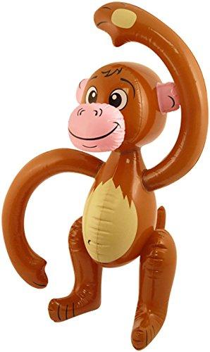 Islander Fashions Aufblasbare Affe 58 cm Explosion Spielzeug Kinder B�hne Tun Jungle Requisiten Party Dekoration Eine Gr��e