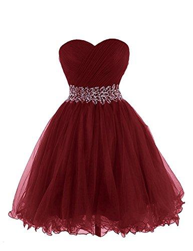 Aiyana Elegantes Herz-Auschnitt ärmellos Abendkleid Kurz Ballkleider Cocktail Party Kleid