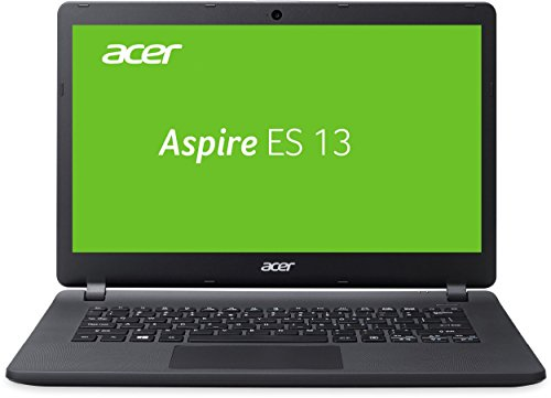 Acer Aspire ES 13 (ES1-332-C89V) 33,8 cm (13,3 Zoll HD) Notebook (Intel Celeron N3450, 4GB RAM, 1000GB HDD, 32GB eMMC, Intel HD Graphics 500, Win 10 Home) schwarz