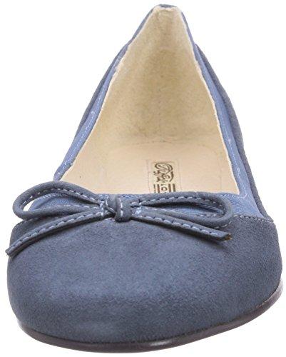 Buffalo London - 207-3562 Kid Suede, Ballerine Donna Blu (Blau (BLUE350))