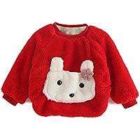 Moresave Enfants Bébé Filles Pull En Tricot Pull À Manches Longues Épais Molleton Chaud Sweatshirts