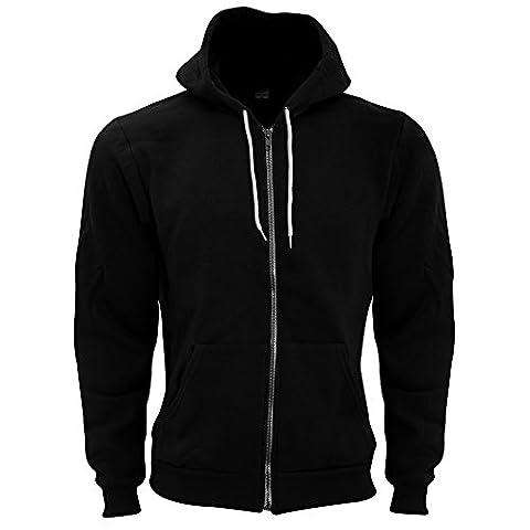 American Apparel - Sweatshirt à capuche et fermeture zippée - Homme (M) (Noir)