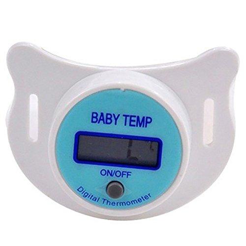 NAttnJf Thermometer baby Schnullerthermometer Baby-Säuglings-LCD-Digital-Schnuller-Sicherheits-Gesundheits-Nippel-Temperatur-Thermometer Blau Anzeige Celsius - Digitale Baby Schnuller-thermometer