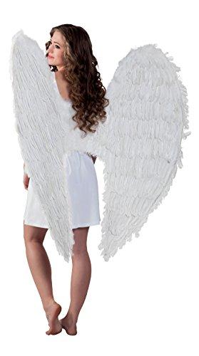 Federflügel weiߟ, 120 x 120 cm (Kostüm Engel-flügel Für Erwachsene)