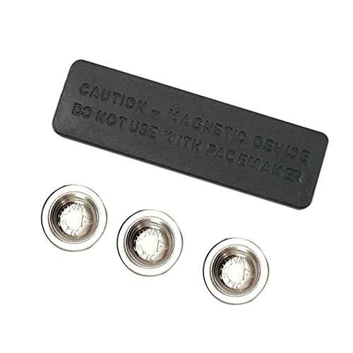 Masterein 10pcs 45x13MM Magnetische Namensschild für Beauty ID Badge Befestigung Namensschild-Halter-3 Magnete (Badge-halter Magnet)