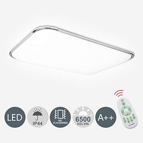 Hengda 48W LED Deckenleuchte Dimmbar Deckenlampe Wohnzimmer Bad Küche Panel Leuchte 2700-6500K