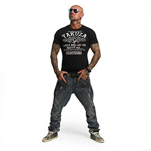 Yakuza Original Herren Farther T-Shirt Schwarz