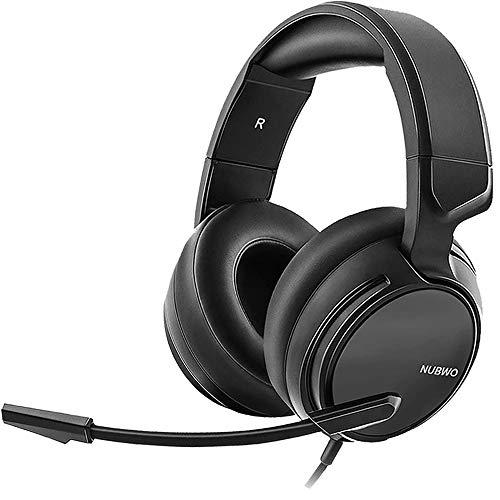 Gaming-Headset & Xbox One Headset & PS4 Headset, 3,5 mm Surround-Stereo-Gaming-Kopfhörer mit Mikrofon, weicher Memory-Ohrenschützer für PC, Laptop, Videospiel mit flexiblem Mikrofon, Lautstärkeregler