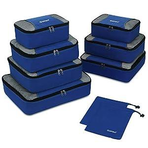 Packing Cubes 9-teilig, 2 zusätzliche Beutel, kleine, mittelgroße, große und 1 größere Kleidertasche