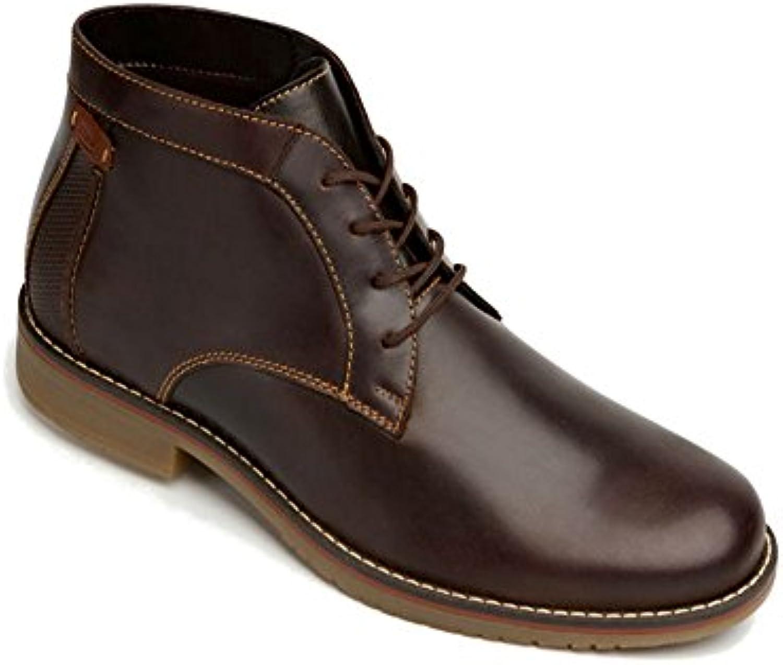 Flexi Shoes Botas de Piel Para Hombre Marrón Chocolate, Color Marrón, Talla 45 EU