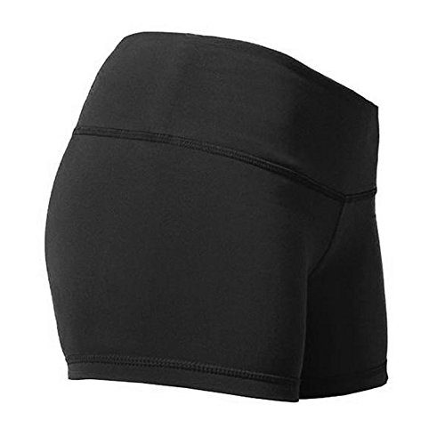 Alivebody Frauen-Workout Yoga Laufen Boy Cut Booty Shorts Schwarz S - Booty Shorts Frauen
