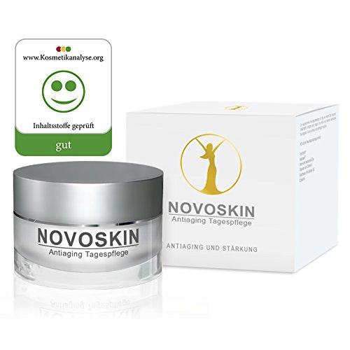 Tagescreme von NOVOSKIN - NOVOSKIN Antiaging Tagespflege - Antifaltencreme mit Hyaluron, Vitamin A, Ginseng, Matrikine-Komplex, botanische Öle, Reishi, Betain und Aloe Vera - 50ml