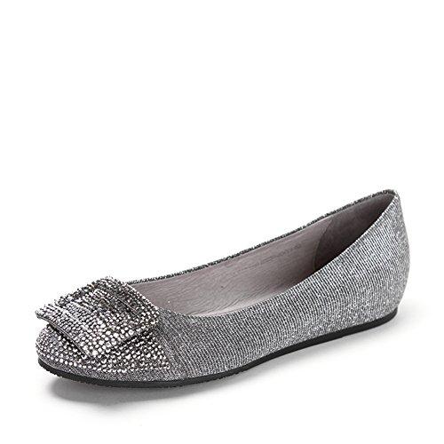 Primavera scarpe ballerine piatte rotondo/Lato fibbia ornamento punta piatta scarpe da donna B