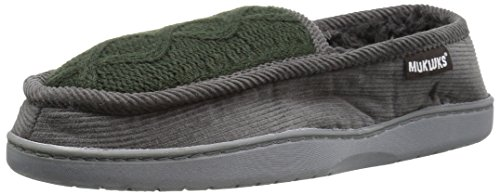 Muk Luks Men s Henry Slipper Dark Grey 10-11 B(M) US
