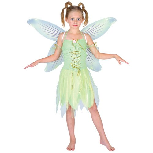 Tinkerbell Neverland Fairy Tale Child Girls Fancy Dress -