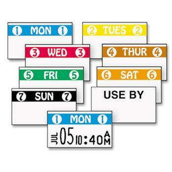 FreshMarx Freezx Color Coded Labels, Wednesday, White, 2500 Labels/Roll, Sold as 1 Roll