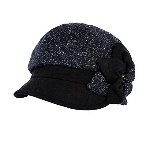 Décorations de fleurs de diamants de la variole pour l'automne/hiver couleur bonnet fourrure seau assorti/Chapeau de pêcheur/Beret A