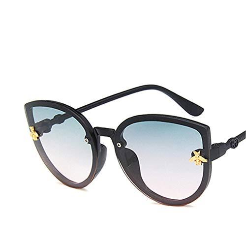 Wang-RX Biene Kinder Sonnenbrille Jungen Mädchen Vintage Kinder Sonnenbrille Runde Sonnenbrille
