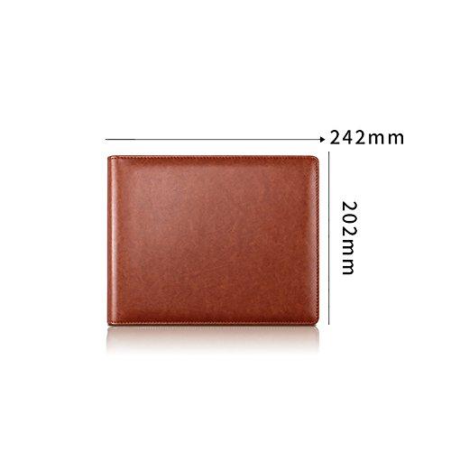 Namenskarte Visitenkarte Visitenkarte, große Kapazität Kartenhalter, beide Männer und Frauen können verwenden (Farbe : Braun)