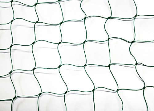 PieloBa Ballfangnetz - Ballnetz - Netz - grün - Masche 5 cm - Stärke: 1,2 mm - Größe: 3,00 m x 15 m