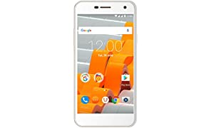 "Wileyfox Spark - 5.0"" HD SIM-Free (Dual SIM 4G) 8MP Cameras Smartphone Latest version of Android - White"