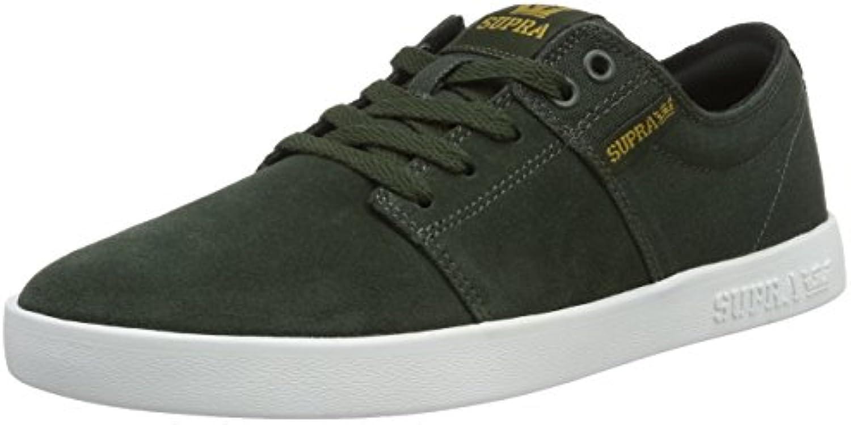 Supra Herren Stacks II Sneaker  Grün Dark Olive White 338  44 EU