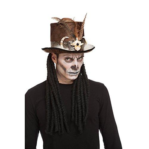viving Kostüme viving costumes204614Voodoo Top Hat (59cm, One Size)