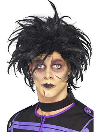Halloweenia - Kostüm Accessoires Zubehör strähnige Herren Kurzhaar Perücke Psycho Edward, perfekt für Karneval, Fasching und Fastnacht, ()