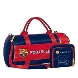 Exclusiv FC Barcelona Sporttasche Reisetasche Fußballtasche 2 in 1 -55x28x28cm-EDEL