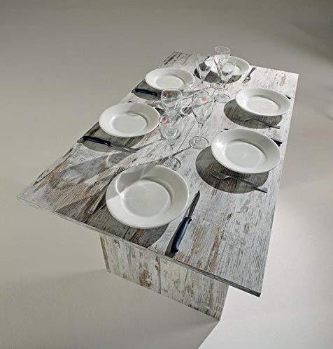 Mesa De Comedor Extensible Mesa Consola Extensible Mueble De Madera Con Efecto Antiguo Italiano