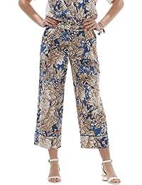 Weekend MaxMara Axe Pantaloni Donna Fantasia Floreale in Popeline di Cotone 2beb3b8caed