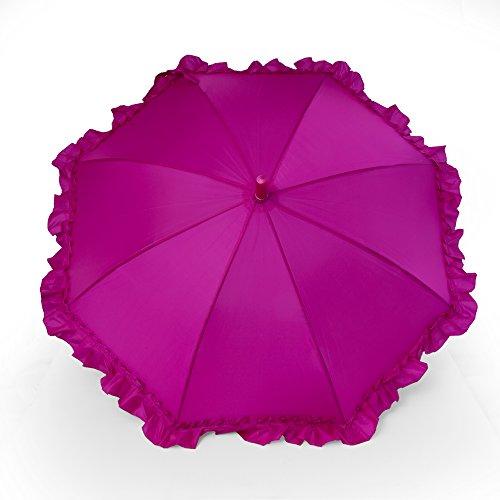 Kinderschirm Mädchen mit Rüschen Kinderregenschirm (Pink)