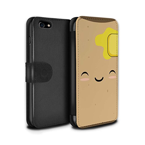 STUFF4 PU-Leder Hülle/Case/Tasche/Cover für Apple iPhone 6+/Plus 5.5 / Spiegelei Muster / Kawaii Essen Kollektion Toast