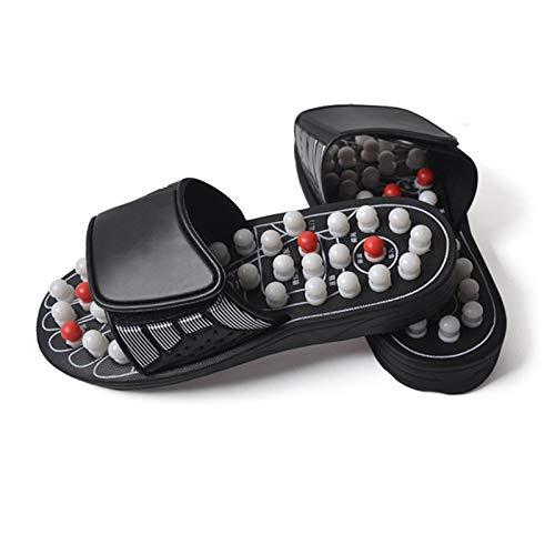 Fußreflexzonenmassage Manuelle (Fußreflexzonenmassage Sandalen, Akupressur Therapeutische Fußmagnetische Massage Hausschuhe Schuhe)
